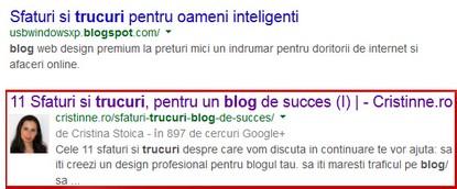 avantaje google authorship
