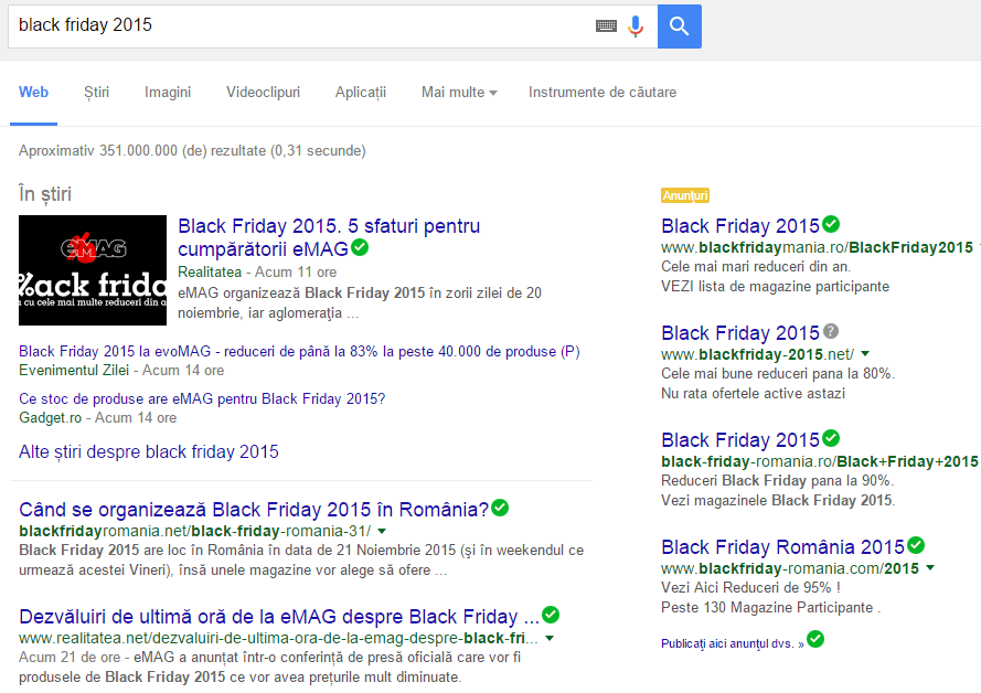 rezultate google black friday