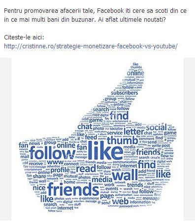 exemplu postare facebook
